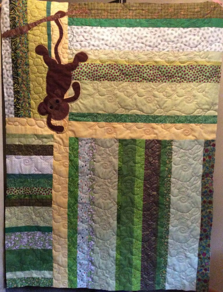 Hanging monkey quilt