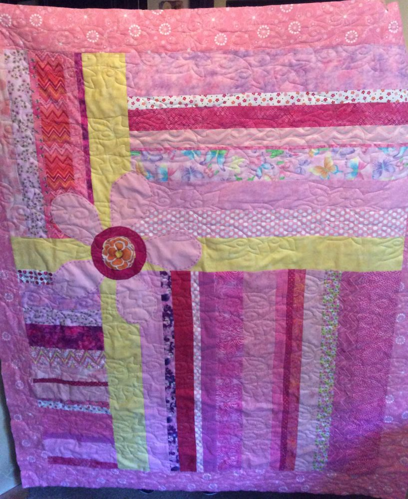 Pink quilt for Ivy