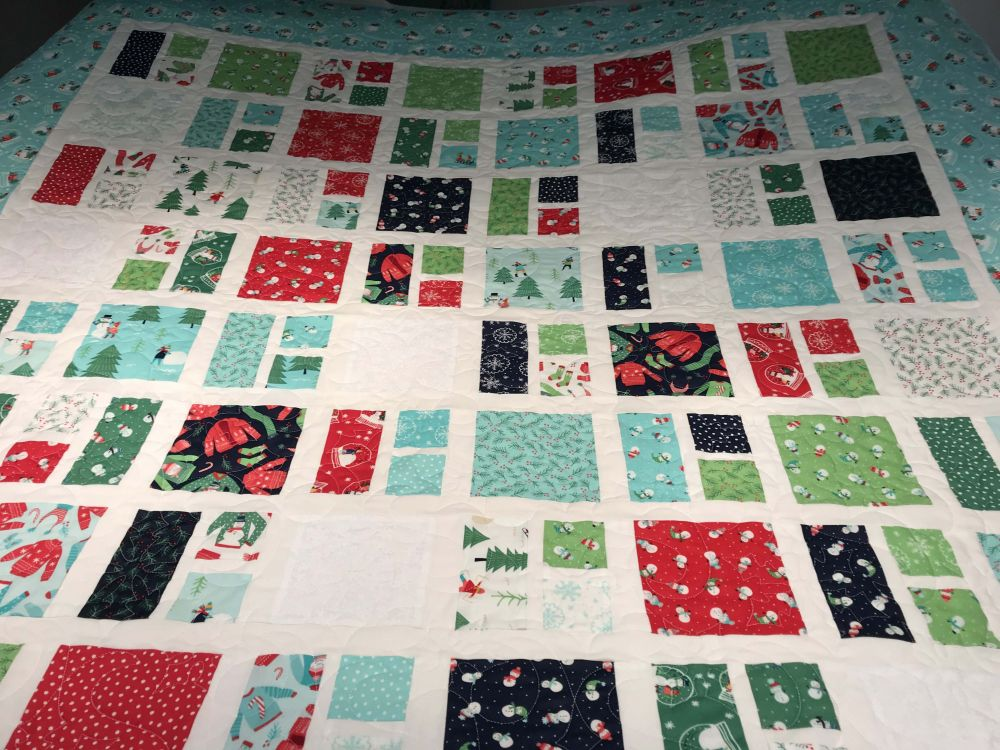 Sister's Christmas quilt